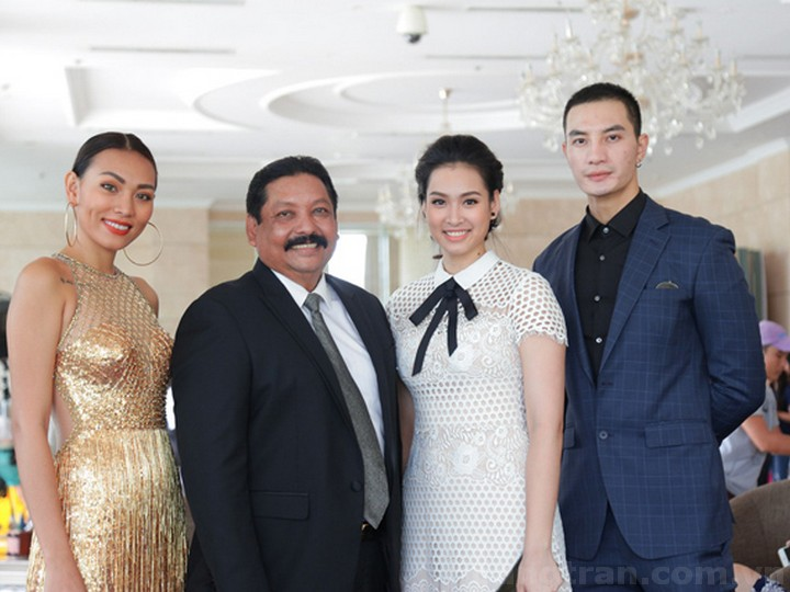 Chân dài Diệu Huyền, diễn viên nước ngoài Ramani Raja, người đẹp Vương Thu Phương và người mẫu Nguyễn Văn Sơn