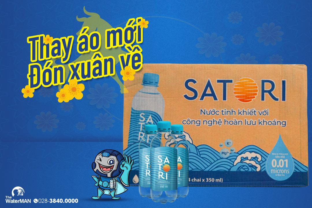 Nhãn hiệu mới của nước tinh khiết Satori