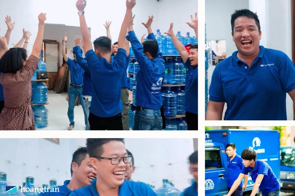 Đội ngũ nhân vien giao hàng của công ty Hoàng Trần